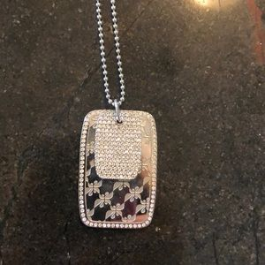 Swarovski dog tags